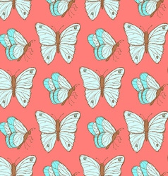 Sketch butterfly in vintage style vector image