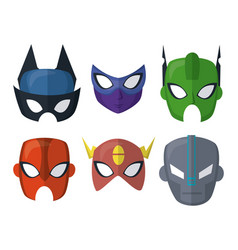 superhero mask icons vector image