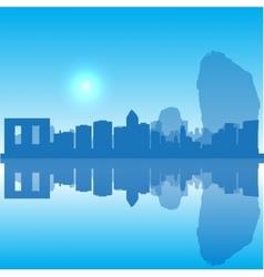 Thailand silhouette skyline vector