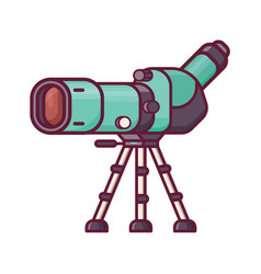 Travel spotting scope for birdwatching vector