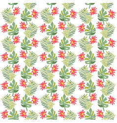 Tropical flower botanical seamless pattern vector