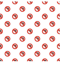 turn is prohibited pattern seamless vector image