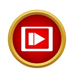 Video movie media player icon simple style vector image