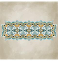 Vintage ornamental floral template vector image