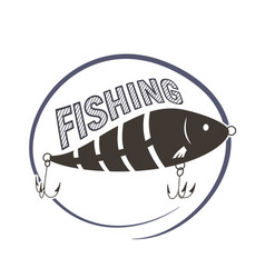 Wobbler lure for fish vector