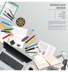 Workspace writer translator copywriter vector