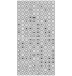 200 universal icons set vector