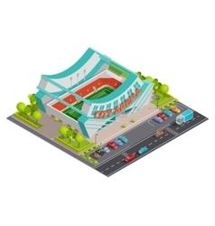Sport Stadium Isometric Outdoor Composition Banner vector image