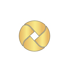 Wave circle computer symbol vector image