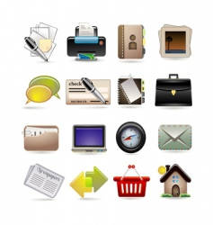 online business icon set vector image