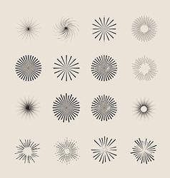 Sunbursts Pack vector image