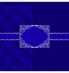 Vintage template frame design for greeting card vector image vector image