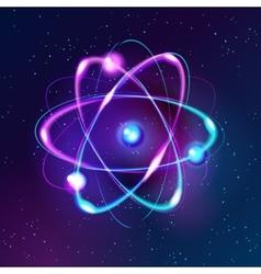Blue Shining atom Abstract Technology dark vector image vector image