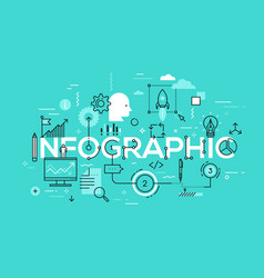 creative infographic banner with elements in thin vector image vector image