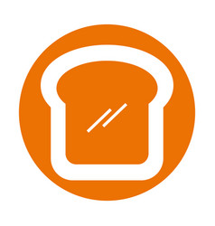 delicious bread slice isolated icon vector image