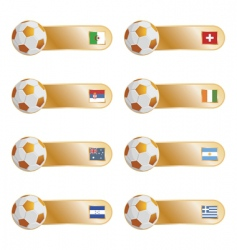 football flag tabs vector image vector image
