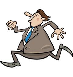 running overweight businessman vector image vector image