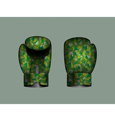 set boxing gloves military Eps 10 vector image vector image