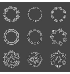 Set of trendy geometric shapes hipster frames vector image