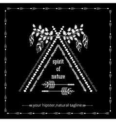 Tribal ethnic hipster logo vector image vector image