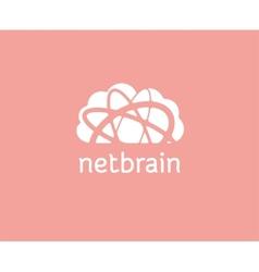Abstract cloud storage logo icon concept logotype vector