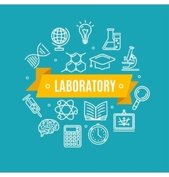 Education Chemistry Science Concept vector image vector image
