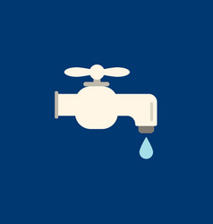 faucet icon flat faucet from bathroom vector image vector image