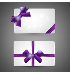 Gift cards with bows vector image