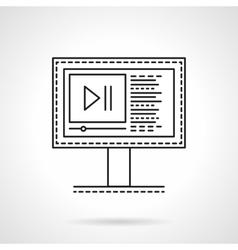 Media blog flat line icon vector image vector image