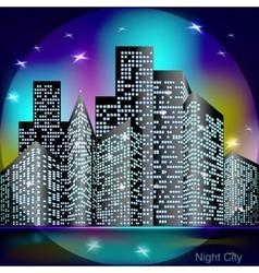Night city light vector image