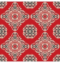 Red ethnic abstract seamless pattern vector image vector image