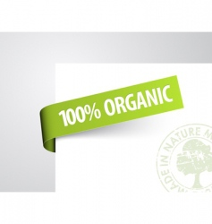 tag for organic item vector image