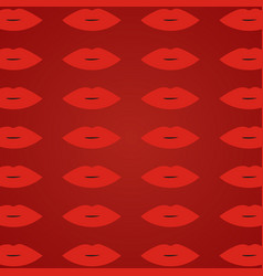 Woman lips red background red open lips pattern vector