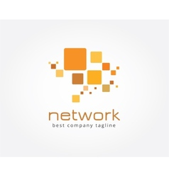 Abstract network logo icon concept Logotype vector image