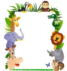 animal cartoon frame vector image