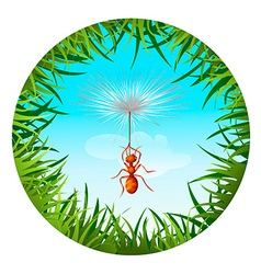 ant in the sky vector image