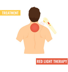 Back pain red light therapy vector