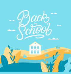 back to school lettering background vector image