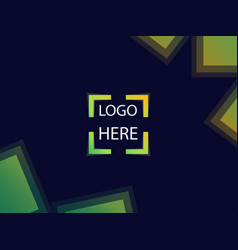Background with square focus for signs or logo vector