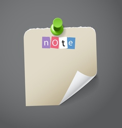 Blank paper stickers vector image