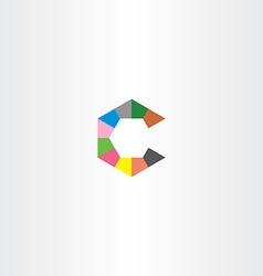 C letter hexagon logo icon vector