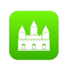 castle tower icon digital green vector image