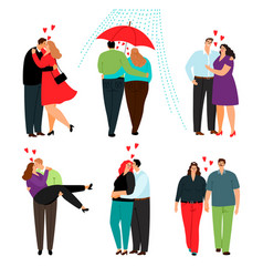 casual love couples set vector image