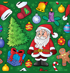 Christmas seamless background 8 vector