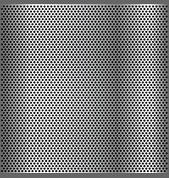 Chrome grid metal background vector