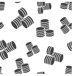 coins stack seamless pattern background business vector image