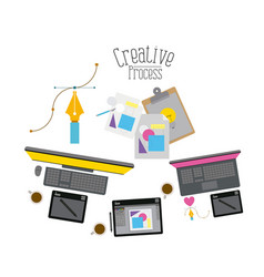 colorful background with creative process with vector image