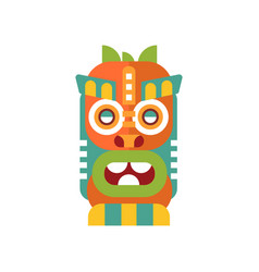 Colorful tribal facial mask on vector