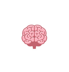 creative abstract brain logo vector image