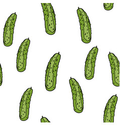 cucumber seamless pattern vector image
